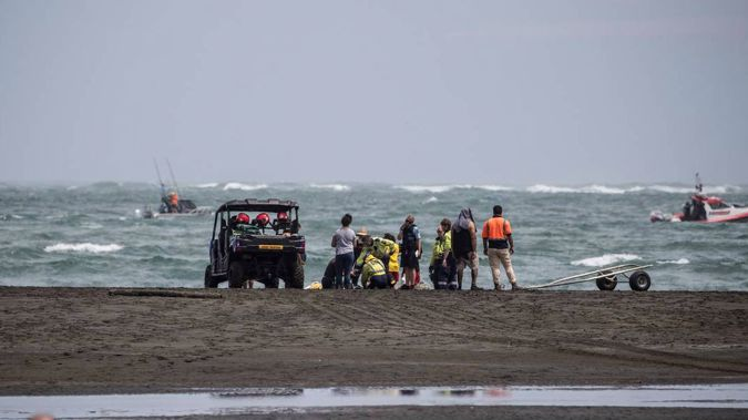 Police staff and volunteers are continuing a search of the shoreline.