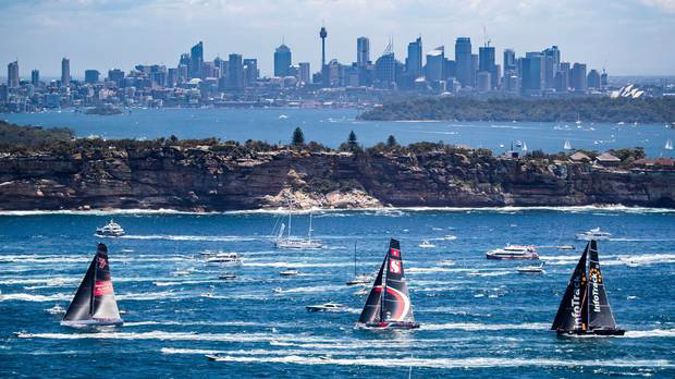 Sydney has had hot weather for a week. Yachts in the Sydney Hobart yacht race on Boxing Day. Photo / AP file