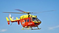 The Auckland Westpac Rescue Helicopter flew a man with serious burns to Middlemore Hospital on New Year's Day. (Photo / File)