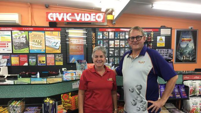 Civic Video Glenfield owners Nick and Clare Thomas. (Photo / Supplied)