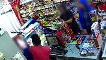 Three women caught on camera robbing dairy for cigarettes