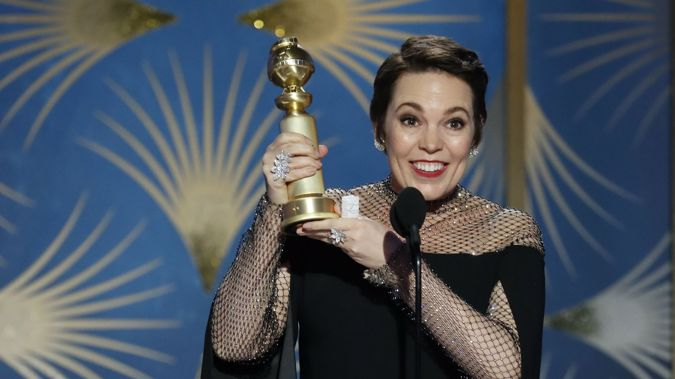 Olivia Colman won Best Actress in a Comedy for her role in The Favourite. (Photo / Getty)