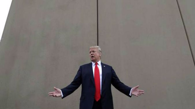 The President insists that any funding bill to reopen federal agencies include US$5.7 billion for his border wall. Photo / AP