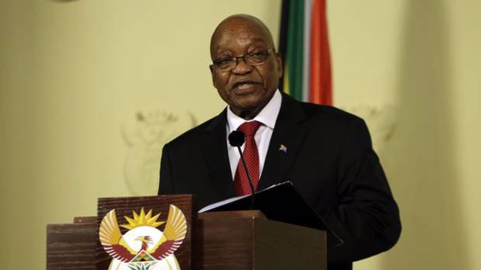 Former South African President Jacob Zuma. Photo / AP