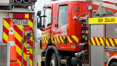 Driver seriously injured after gas tanker flips, catches fire in North Canterbury