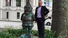 Stolen bronze gnome returned after being dumped at charity shop