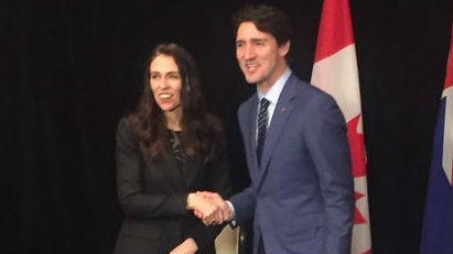 Justin Trudeau has personally called Jacinda Ardern to ask for her support. (Photo / Newstalk ZB)