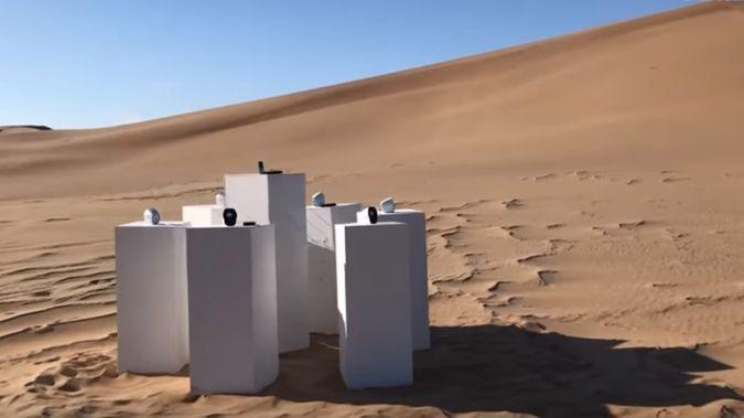 The artist hopes that solar batteries will guarantee the installation's longevity. (Photo / Instagram)