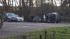 Prince Phillip in car crash near Sandringham Estate
