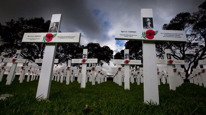Crossing remembering the 18,000 New Zealanders who fell in the Great War. Photo / Brett Phibbs
