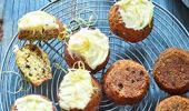 Nici Wickes: Little courgette and currant cakes with cream cheese icing