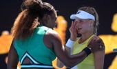 United States' Serena Williams, left, consoles Ukraine's Dayana Yastremska after winning their third round match at the Australian Open tennis championships. (Photo / AP)