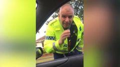 Police forced to apologise after officer's antics at traffic stop