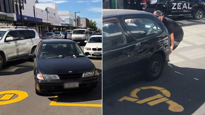 A driver has reaped instant karma when locals took matters into their own hands after a person created traffic mayhem in Napier. (Photo / Levi Pauling)
