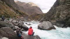 The Kawarau River rapids were the scene of a rescue on Sunday night. Photo / Chris Atkinson