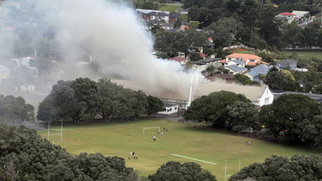Fire breaks out at Auckland Normal Intermediate school