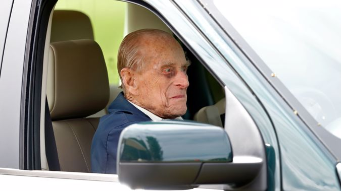 Prince Philip has blamed low-shining sun for the crash. (Photo / Getty)