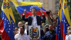 Juan Guaido last week declared himself president of Venezuela. (Photo / AP)