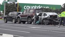 Motorist killed after being rear-ended in four-car collision