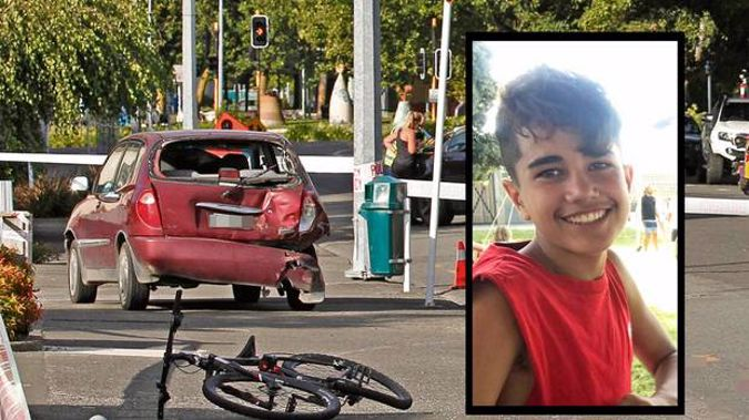 Joshua Mou, 13, who passed away at Hawke's Bay Hospital yesterday morning after his bike collided with a van on Monday. Photo / Supplied
