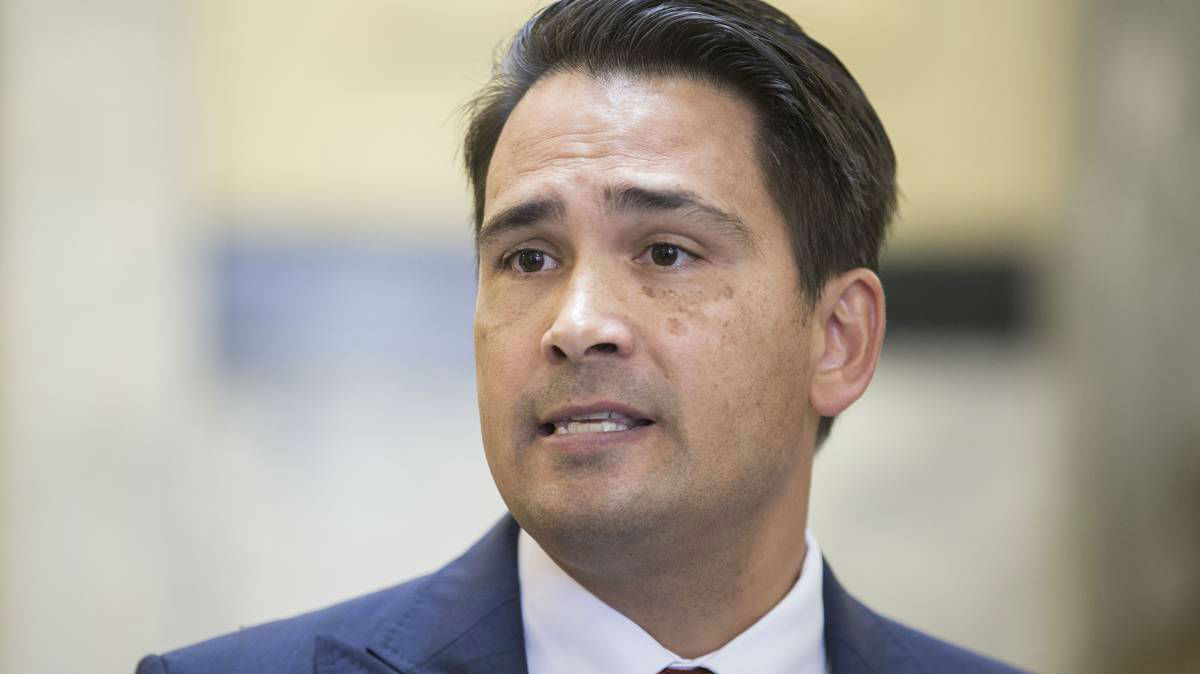 Simon Bridges has defended his tax plan after criticism from Grant Robertson. (Photo / Stephen Parker)
