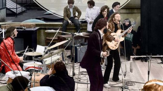 The Let It Be sessions concluded with the Beatles' last performance on a London rooftop.