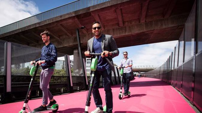 Lime e-scooters. Photo / NZHerald