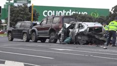 Man charged over death of Aucklander in four-car smash