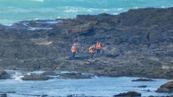 Search and Rescue teams spent almost two weeks looking for the two fishermen missing off Slope Point. Photo / Ben Waterworth