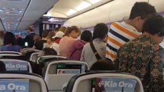 Passengers on an Air New Zealand flight which ended up where it left after a five-hour trip. (Photo / Supplied)