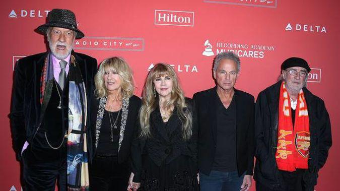 Mick Fleetwood, Christine McVie, Stevie Nicks, Lindsey Buckingham, and John McVie of Fleetwood Mac. (Photo / Getty)