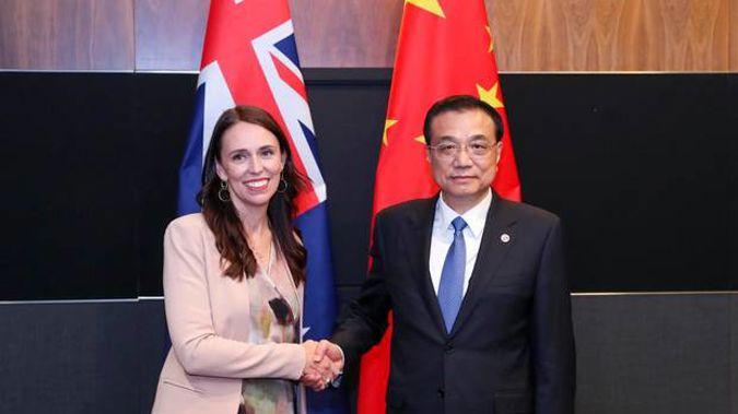 Jacinda Ardern and Chinese Premier Li Keqiang at the Asean Summit in November in Singapore. Photo / ASEAN.
