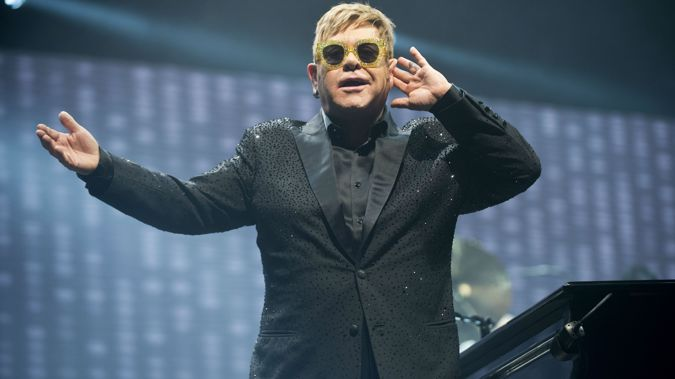 Elton John is playing at Mission Estate as part of his farewell tour. (Photo / Getty)