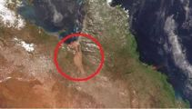 'Mega-river': Floodwaters create 60km-wide river in Australia