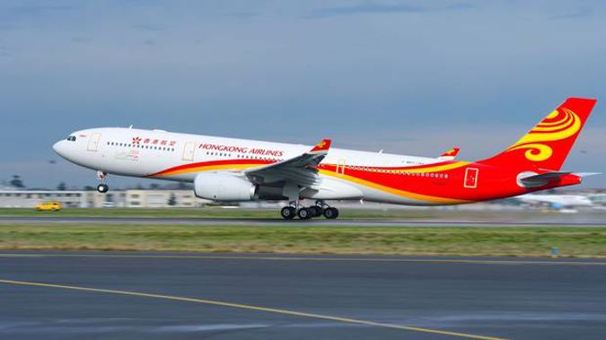 Hong Kong Airlines used an Airbus A330 on the the Auckland route. (Photo / Supplied)