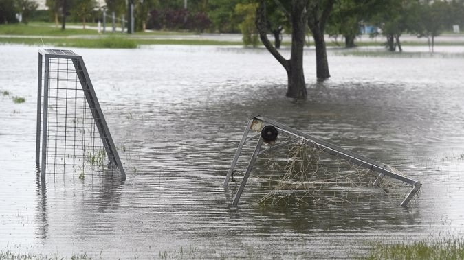 The hand of human stupidity played a major part in the damage to Townsville during this year's floods. (Photo / Getty)