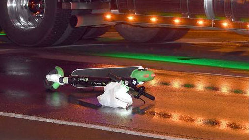 Renee Whitehouse's damaged Lime scooter, which she was told she had not returned properly. (Photo / ODT)