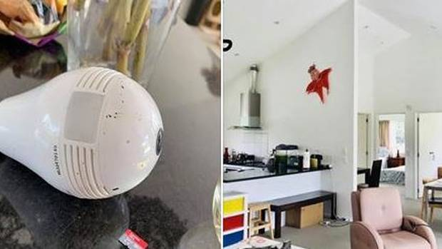 Bridal party discovers hidden camera in AirBnB lightbulbs