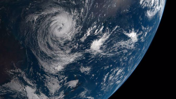 The cyclone is moving across the Pacific. (Photo / Supplied)
