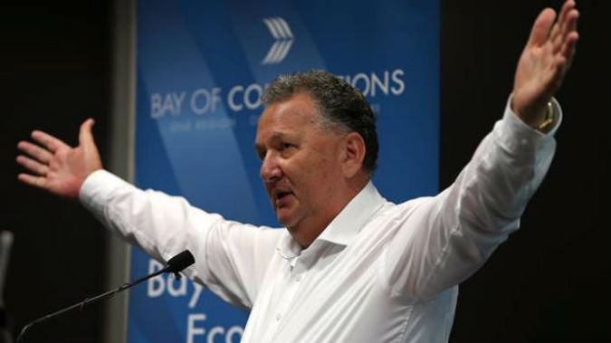 Shane Jones does highlight that some of the jobs aren't permanent. (Photo / NZ Herald)
