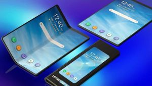 Samsung's foldable phone takes the form of both a smartphone and a tablet. (Image/YouTube)
