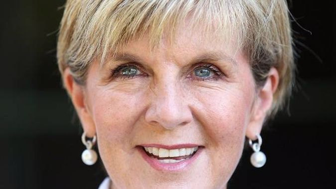 Minister for Foreign Affairs Julie Bishop. Photo / Getty Images
