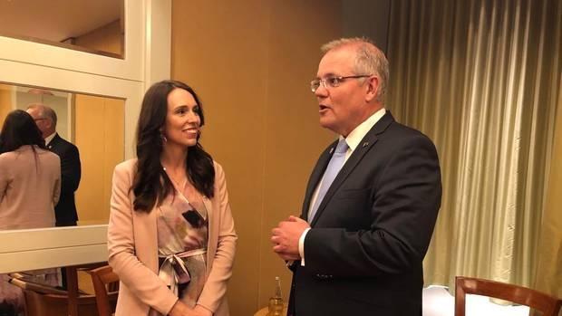 Aussie PM touches down in Auckland