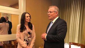 Prime Minister Jacinda Ardern meets Australian Prime Minister Scott Morrison