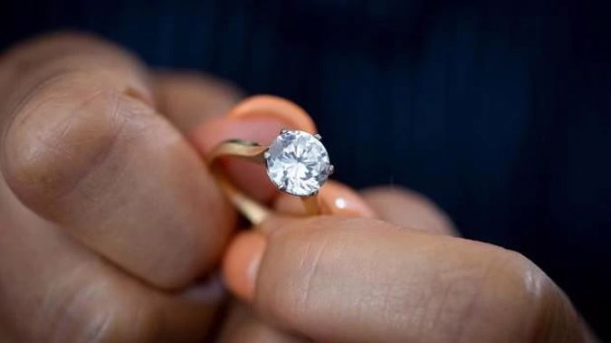 A woman going through a divorce discovered the diamond in her $189,000 engagement ring was replaced with a $1000 cubic zirconia. (Photo / Dean Purcell)