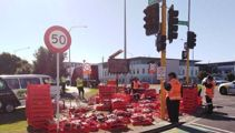 Who spilled all the pies? Truck driver spills load in Manukau