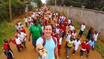 Kiwi rugby star gives Kenyan school kids hope