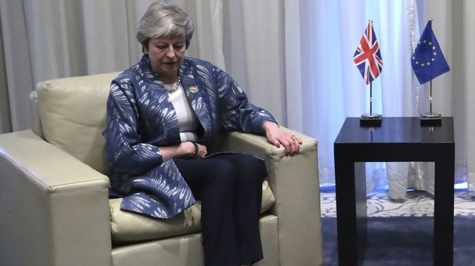 Theresa May is struggling to get her Brexit deal passed. (Photo / AP)