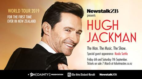 Newstalk ZB presents Hugh Jackman's 'The Man. The Music. The Show.'