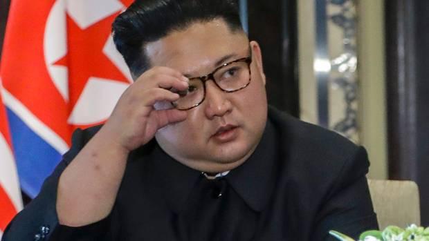North Korea leader Kim Jong Un at the Singapore summit last June. Photo / AP